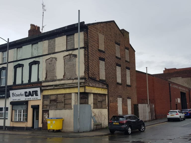 Dilapidated commercial property we sold in Pontefract, Wesk Yorkshire